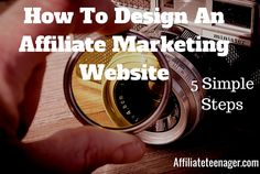 If you are looking for ways to design your affiliate marketing website in a different way that will be relevant to your niche AND will convert – Follow these simple 5 steps and are on your way to increase your user's experience, your success and your brand in general. http://affiliateteenager.com/how-to-design-an-affiliate-marketing-website