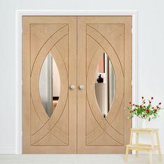 Oak Double Doors – Page 9 Walnut Doors, Oak Doors, Door Design, House Design, Internal Double Doors, Flush Doors, Fire Doors, Simple Prints, Safety Glass