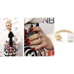 Looking good @gwenstefani! We love seeing her rocking our Pearl Spike Ring at a press conference for hit show @this_is_the_voice! : @dailymail