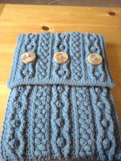 crochet bobble laptop case 400x533 25 Patterns I Want to Crochet for Blog a Long (Crochet Bag Patterns)