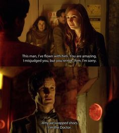 i don't know how i feel about this whole episode... the doctor slammed amy up against the wall?!?