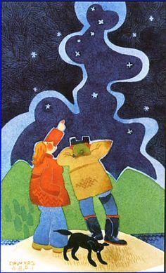 Rie Munoz looking for Haleys comet