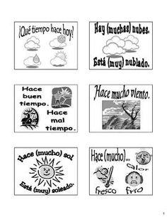 El Tiempo Flash Cards/Bulletin Board in Spanish