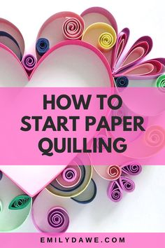 Paper Quilling a Heart Diy Quilling Crafts, Paper Quilling Tutorial, Paper Quilling Flowers, Paper Quilling Cards, Quilling Work, Paper Quilling Jewelry, Quilled Paper Art, Paper Quilling Designs, Paper Beads Tutorial