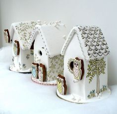 Top 14 Shabby Chic Gingerbread Houses – Cheap Unique Christmas Day Party Design - Easy Idea (2)