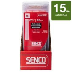 Senco 2 1 2 In X 15 Gauge 34 Degree Galvanized Brad Nails A302509n Brad Nails Galvanized Nails Finishing Nails