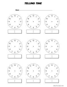 blank clocks - Google Search