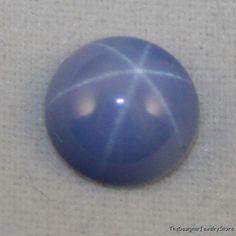 Lab grown blue Star Sapphire 5mm round gem 0.6ct sa33  Our Price: £7.98