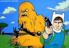 Chewbacca adventure time parody