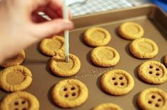 Cookies in shape of a button is a great idea for a party :)