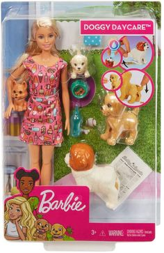 Buy Barbie Doggy Daycare online or in store at Mr Toys. Browse our Barbie range at great prices. Doll Clothes Barbie, Mattel Barbie, Doll Toys, Barbies Dolls, Barbie Stuff, Small Puppies, Baby Puppies, Cute Puppies, Potty Training Girls