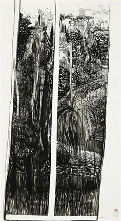 Brett Whiteley July 2 1975 Rainy day All day 1975 - Pictify - your social art network Plant Drawing, Painting & Drawing, Illustrations, Illustration Art, Social Art, Pin Art, Indigenous Art, Australian Artists, Art Auction