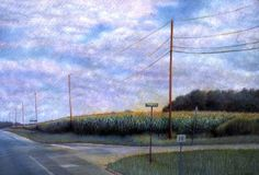 In the January 2007 issue of American Artist, Ohio artist Linda Wesner depicted American scenes that were quickly disappearing because she felt it was important that the viewer recognized the universal theme of change. We offer 16 more of her colored pencil landscapes in this online exclusive gallery. Delaware Crossing, No. 12005, colored pencil, 8½…