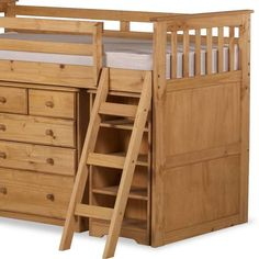 wooden mid sleeper with desk