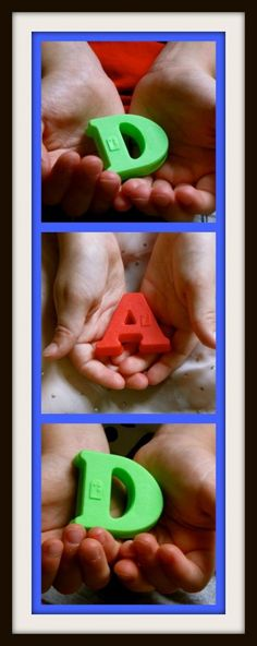 D-A-D letter Father's Day Photos ~ Easy DIY Father's Day Gifts