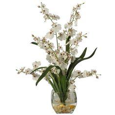 Dancing Lady Orchid Liquid Illusion Silk Flower Arrangement