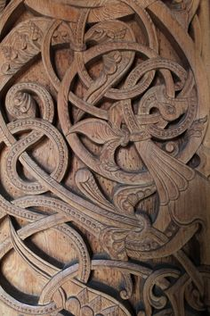 Celtic carving - I love Celtic art, my eldest daughter burns Celtic designs into wood, coffee tables etc. Celtic Symbols, Celtic Art, Celtic Knots, Vikings, Celtic Culture, Viking Art, Celtic Designs, Wood Sculpture, Wood Art