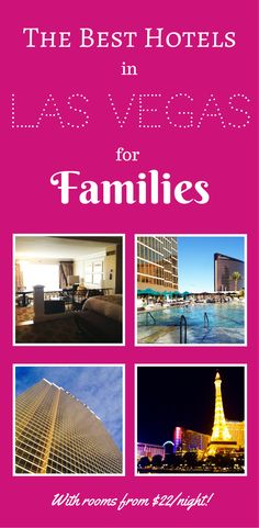 Want to know the best kid friendly hotels in Las Vegas? We're experts on things to do in Vegas with kids. Read our suggestions on the best hotels in Las Vegas for families. Las Vegas Vacation, Visit Las Vegas, Las Vegas Hotels, Travel Vegas, New Travel, Travel Usa, Family Travel, Travel Tips, Family Vacations