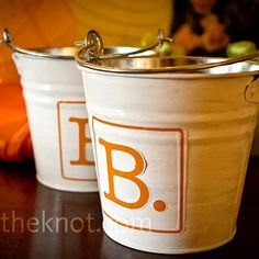 Cute Idea to have the monogram on there