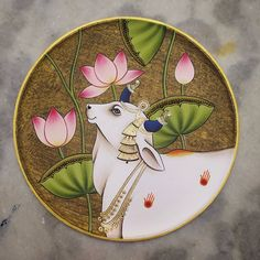 Pichwai Paintings, Indian Art Paintings, Cow Painting, Acrylic Painting Canvas, Indian Traditional Paintings, Mural Art, Murals, Rajasthani Painting, Composition Painting