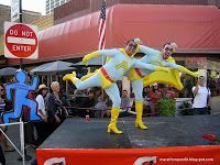 Two guys dressed as SNL's Ambiguously Gay Duo at the Chicago Marathon