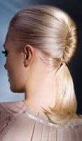 french twisted ponytail