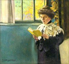 Woman Reading at the Window - Felix Vallotton - The Athenaeum