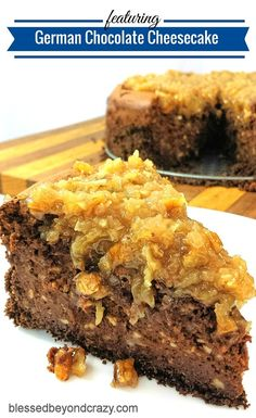 German Chocolate Cheesecake - Man-oh-man! If you love German Chocolate Cake and Cheesecake, then you are going to FLIP over this cheesecake! Super decadent and scrumptious! Perfect for any holiday! The Cheesecake Factory, Delicious Chocolate, Chocolate Flavors, Chocolate Recipes, Chocolate Cakes, Köstliche Desserts, Delicious Desserts, Dessert Recipes, Health Desserts