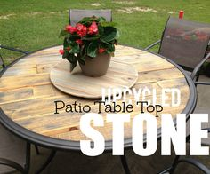 A lot of times when the glass breaks in our patio tables we discard them as if there's no fix. Why not make a top out of free pallet wood and give your table a unique look. In the video I explain my process. Enjoy.