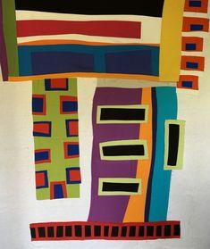 Tales of a Stitcher Patchwork Designs, Quilting Designs, Gees Bend Quilts, Scrap Quilt Patterns, Fabric Art, Diy Painting, Textile Art, Fiber Art, Modern Art