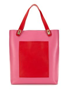 Large Leather Pocket Tote by Balenciaga