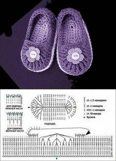 crochet tuto slippers (4)