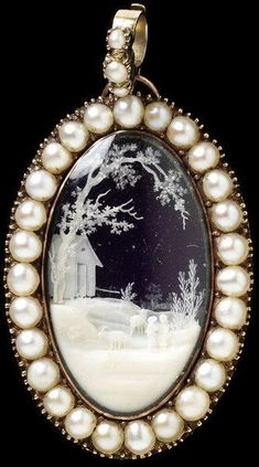 Mourning pendant Cameo Place of origin: England Great Britain (made) Date: 1798 (made) Artist\/Maker: unknown (production) Materials and Techniques: Gold enamel pearl ivory glass Cameo Jewelry, Pearl Jewelry, Jewelry Gifts, Jewelry Box, Jewelry Accessories, Fine Jewelry, Jewelry Design, Antler Jewelry, Gold Jewelry