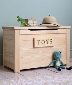 Our Jakob Toy Box offers a charming home for your little one's toys. Its natural pine construction indicates quality and character, whilst a hinged lid allows instant access to the box's contents. #toybox #toys #kidstoys Toy Storage Boxes, Toy Boxes, Storage Spaces, Storage Chest, Childrens Bedroom Furniture, Kids Bedroom, Instant Access, Bedroom Storage, Contents