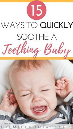 Natural Teething Remedies That Actually Work - The MillennialSAHM Looking to provide your little one with relief from their teething pain the natural way? Check out these 15 natural teething remedies that actually work. Baby Teething Remedies, Natural Teething Remedies, Natural Remedies, Baby Teething Chart, Baby Teething Symptoms, Teething Baby 3 Months, Baby Teething Fever, Signs Baby Is Teething, Sons