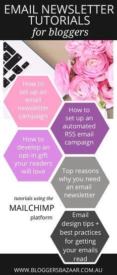 Bloggers Bazaar | Email newsletter tutorials for bloggers | http://www.bloggersbazaar.com.au