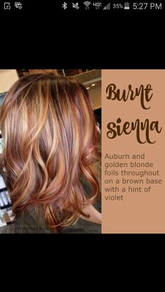 Such a pretty color. Auburn with carmel highlights