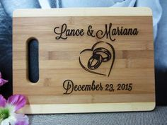 Personalized Engraved Cutting Board Wedding by weddingpartygifts
