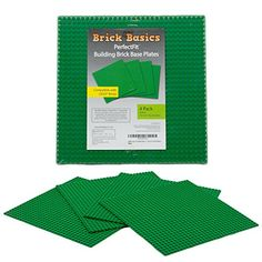 Lego Compatible Baseplate Green Large 10 x 10 4 Pack by Brick Basics -- Click image to review more details.