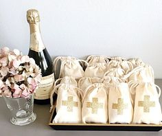 Hangover kit makes for a perfect party favor! | Ideas For An Unforgettable Bachelorette Party | Kennedy Blue