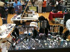 Lamentation's End at the Northside craft show. Check us on #etsy www.etsy.com/shop/WCRSaenz