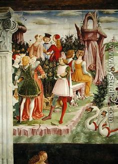The Triumph of Venus  April from the Room of the Months (detail) c.1467-70 - Francesco Del Cossa