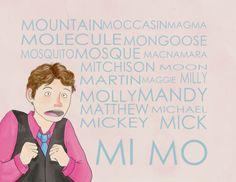 cabin pressure | Arthur Shappey::phonetic alphabet for M