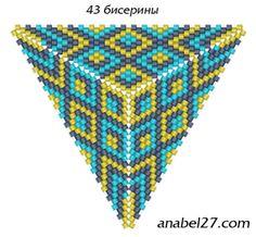 Схемы треугольников - мозаичное плетение 8 | - Схемы для бисероплетения / Free bead patterns -