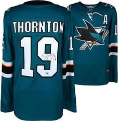 Joe Thornton Sharks Autographed Teal Fanatics Breakaway Jersey - Fanatics   NHL  Hockey San Jose 579f1a989