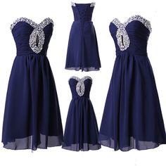 Beaded & Gasa Corto Boda Vestido De Fiesta Dama De Fiesta De Graduación Vestido in Ropa, calzado y accesorios, Ropa para mujer, Vestidos | eBay