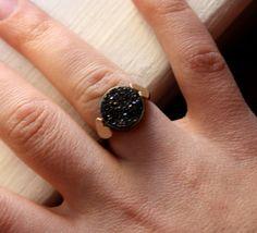 14k Gold Hearts on Sterling Silver Ring by RachelPfefferDesigns, $210.00