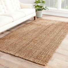 Carmella Natural Solid Taupe Area Rug (9' X 12') - Free Shipping Today - Overstock.com - 15850580