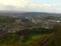 View of Edinburgh from the top of Arthur's Seat.