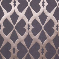 Mokum, Brocatelle 8708/Night 063 Luxurious silk linen Jacquard with embossed effect. Based on French ironwork motifs. 61% Linen, 24% Cotton, 15% Silk